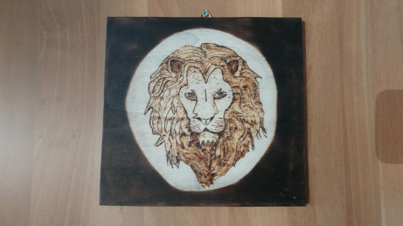 pyrographed-lion