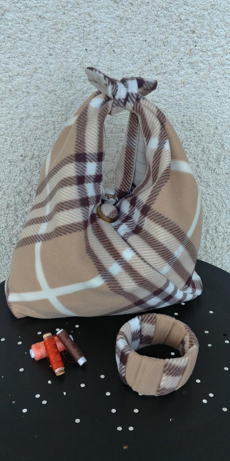 borsa-beige-scozzese-pile-origami
